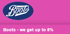 Boots- we get up to 8%