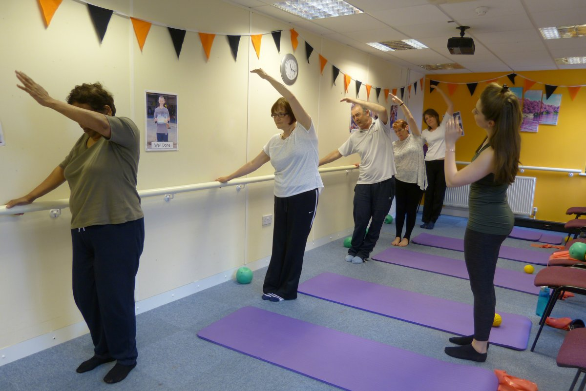 Group of people taking part in pilates