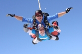 Rachel Coffey-Brittain skydiving for the MS Trust