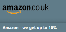 Amazon-we get up to 10%