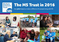 MS Trust Annual Review 2016 front cover