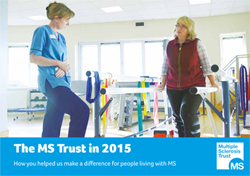 MS Trust Annual Review 2015 front cover