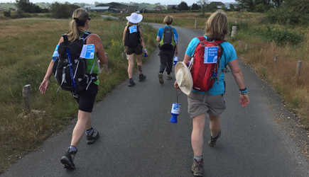 Walkers in the Isle of Wight Challenge