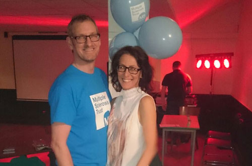 John and his wife Michelle at the race night