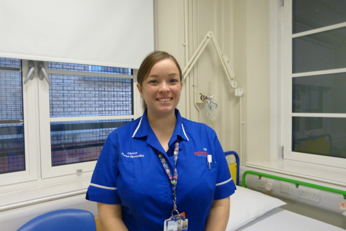 Katie Hanson is a clinical nurse specialist for multiple sclerosis in paediatrics at Great Ormond Street Hospital