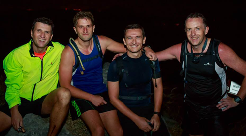 Ed Bracken and friends taking part in Moontrekker