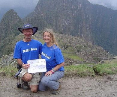 Picture of Clem and Ruth at Machu Picchu
