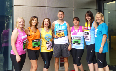 'Team Bizzies' before the Great North Run (I am the one on the far right)