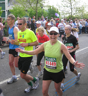 Carolyn in the London Marathon