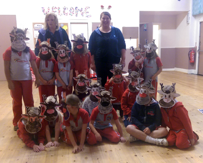 Jennifer Cooper's Rainbow Group taking part in a Reindeer Rally