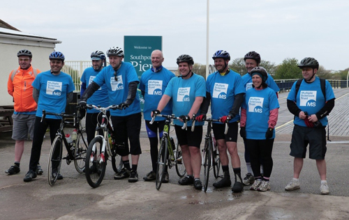 Group of MS Trust cyclists
