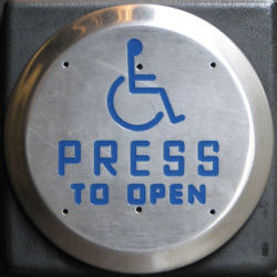 press to open button