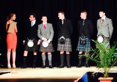 Male students in kilts