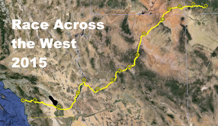Race Across the West route map