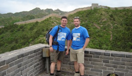 David and friend on the Great Wall of China