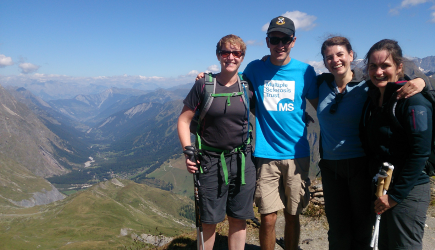 MS Trust supporters on the Alps Trek