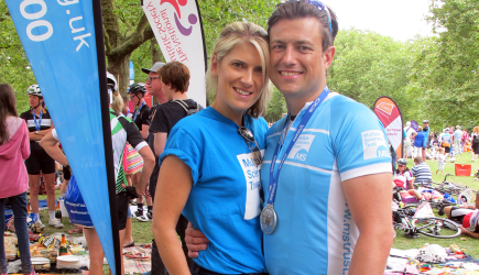 MS Trust supporters at RideLondon