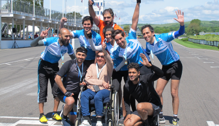 The team of cyclists with Lalita
