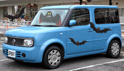 Ghostly Halloween Nissan Cube