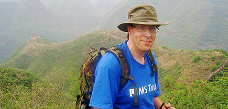 Andrew Langley on the China Trek in 2007