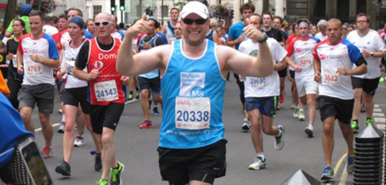 MS Trust runner with thumbs up