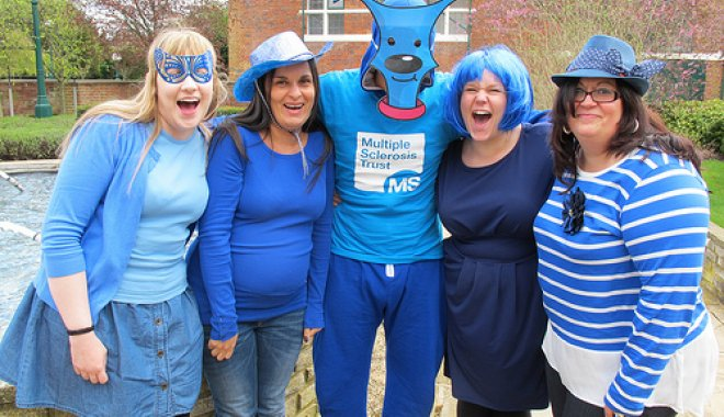 MS Trust staff being Bold in Blue