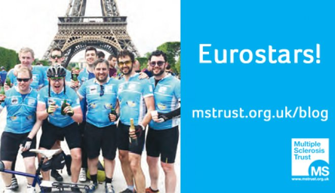 Eight friends from London took part in a 300 mile cycle to Paris in May