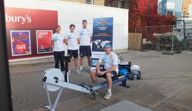 Atlantic Lions on rowing machine