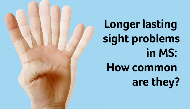 Longer lasting sight problems in MS