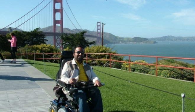 Srin at the Golden Gate Bridge