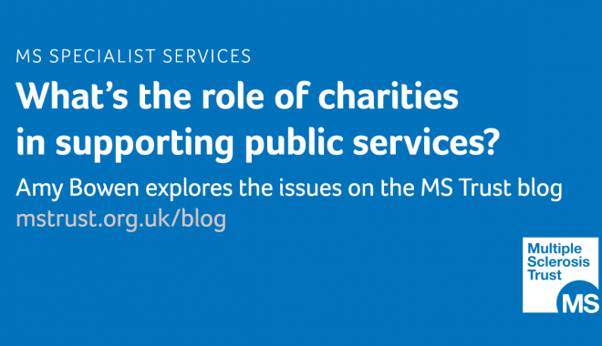 What is the role of charities in supporting public services