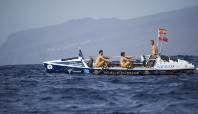 First day rowing for the Atlantic Lions