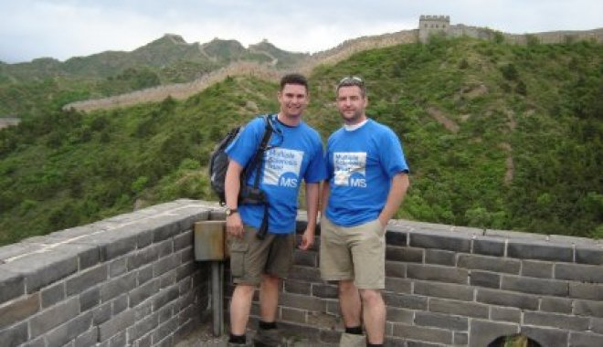 David Elliot and friend on the Great Wall of China
