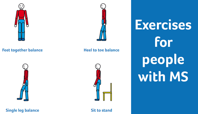Stick man doing exercises