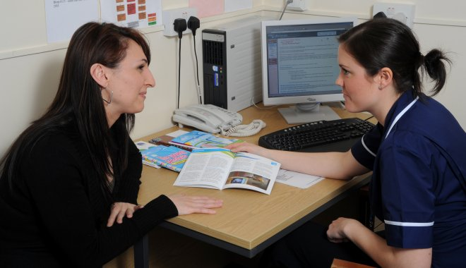 meeting with a health professional