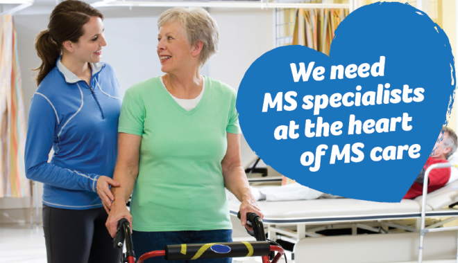 Physiotherapist and patient - heart of MS care