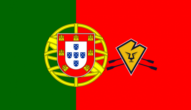 Portuguese flag with Atlantic Lions logo