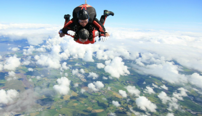 Skydive from above