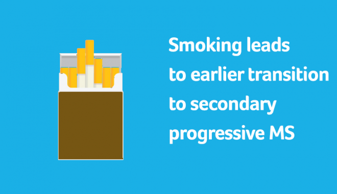 smoking leads to earlier progression to SPMS