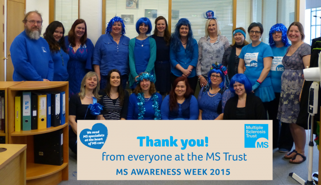 Thank you from all who work at the MS Trust