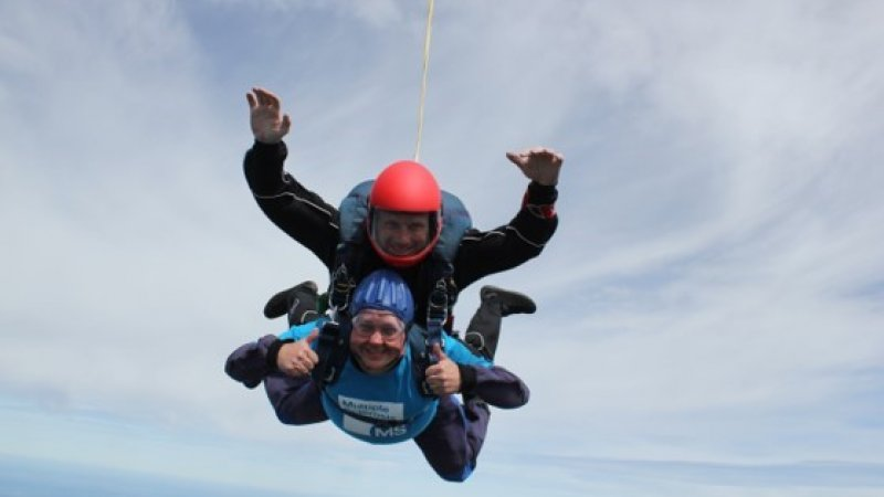 Paul taking part in a skydive