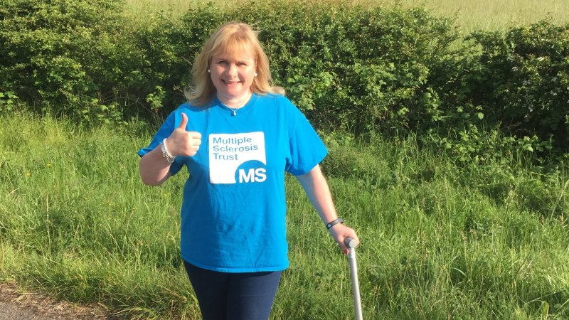 Charlotte taking part in Miles for MS
