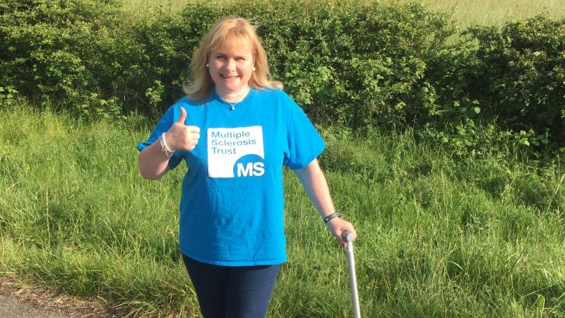 Fundraiser taking part in Miles for MS