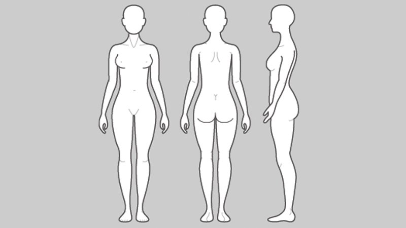 Female body map