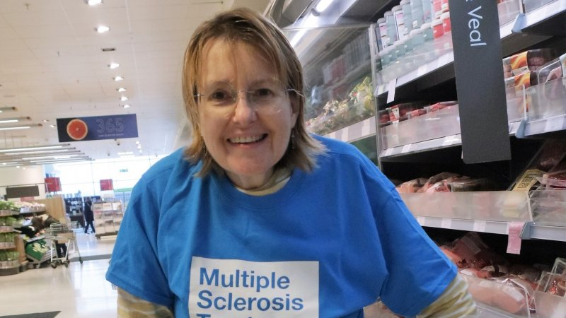 Linda taking part in Miles for MS
