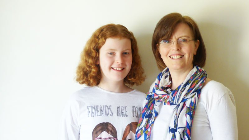 Young person with MS and her mum