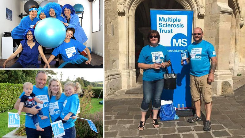 Families and friends fundraising for the MS Trust