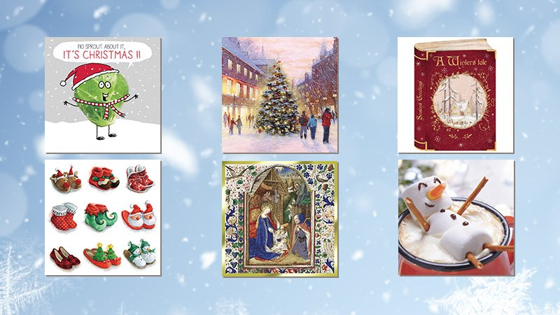 Selection of six MS Trust Christmas cards