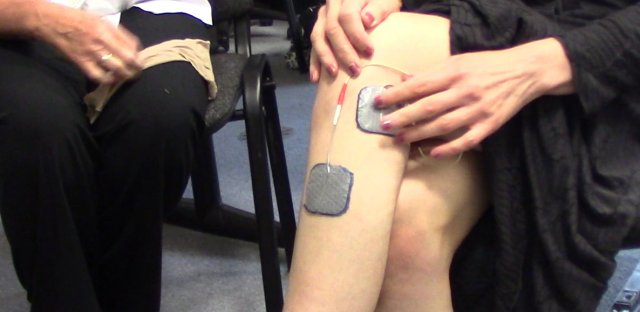 Talking functional electrical stimulation (FES)