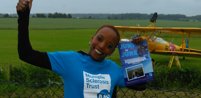 Skydiving for the MS Trust